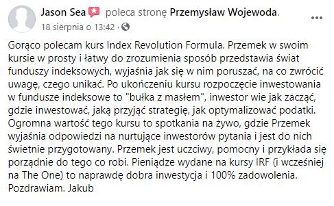 Opinia o index revolution formula